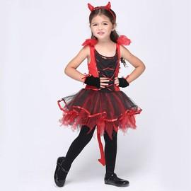 Eleyooner Costume D'chat Enfant Fille D�guisement D'halloween/Cosplay/Spectacle Taille S (Serr�-T�te+Gants+Robe)