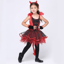 Eleyooner Costume D'chat Enfant Fille D�guisement D'halloween/Cosplay/Spectacle Taille L (Serr�-T�te+Gants+Robe)