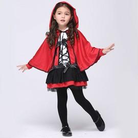 Eleyooner Le Petit Chaperon Rouge Halloween/Toussaint/Carnaval/Soir�e/Spectacle Taille S(Cape Avec Chapeau+Robe)
