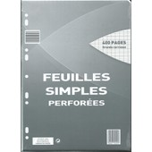 Feuilles Simples Perfor�es Surfin 21x29.7 Seyes 400 Pages Grands Carreaux