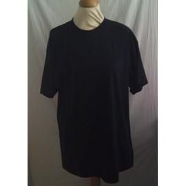 Tee Shirt Manche Courte Bleu Marine Taille L Neuf