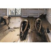Gustave Caillebotte Poster Reproduction Sur Toile, Tendue Sur Ch�ssis - Les Raboteurs De Parquet, 1875 (80x120 Cm)