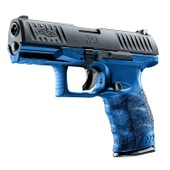 Pistolet Walther Ppq Bleu Gas Blow Back - Culasse Mobile