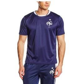 T-Shirt Football Fff L Bleu Roi