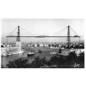 Carte Postale Ancienne - Noir Et Blanc - Entourage Blanc -1501 Marseille -Entree Du Vieux Port Et Pont Transbordeur- Les Editions D'art Yvon