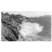 Carte Postale Ancienne -168 - Marseille - La Corniche Effet De Vagues- Editions La Cigogne