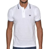 Fred Perry - Polo Manches Courtes - Homme - Fpetsm3600 - Blanc Noir