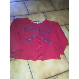 Gilet Zara Laine 24 Mois Rouge