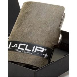 Porte Cartes De Cr�dit I-Clip Vintage Cuir