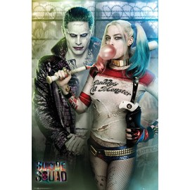 Suicide Squad Maxi Poster 61 X 91,5 Cm Joker And Harley Quinn