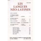 Les Langues Neo-Latines, 74e Annee, N� 234, 1980 (Sommaire: Une Figure Du Panth�on Afro-Br�silien : La D�esse Lemanj�, A. N'doye. Les S�jours Romains De Madame R�camier, J. Boudard. Se�as De ... de COLLECTIF