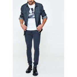 Jeans Lee Malone Skinny Gris Homme
