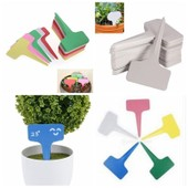 Yarui-World� 100 Pcs Vert Plante Etiquette T-Type Pr Jardin P�pini�re Arbuste Semis Bouture 60x100mm