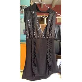 Robe Sexy Marylin Robe Noir Sequins Sexy Polyester 36 Noir