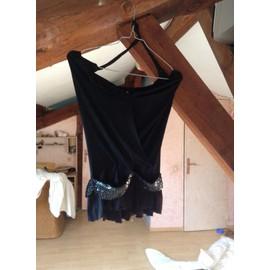 Robe Sexy Marque Online Marque Online Courte Taille X/S Haut Sequins Lycra 34 Noir