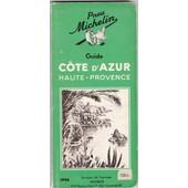Pneu Michelin Guide Cote D Azur Haute Provence 1948 de MICHELIN