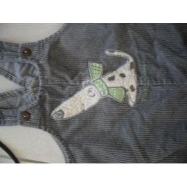 Salopette Chien Coton 18 Mois Gris