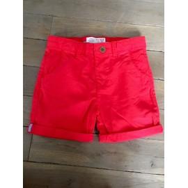 Short Zara Coton 12 Mois Rouge
