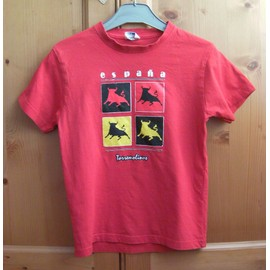 T-Shirt Rouge - Taille 9 Ans