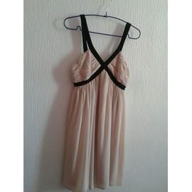Robe H&m Polyester 34 Beige