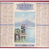 Almanach Des P.T.T. 1967 P�che Sur Le Lac D'annecy