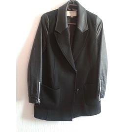 Manteau Zara Viscose S Noir