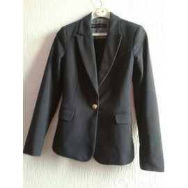 Veste Zara Coton Xs Bleu Marine