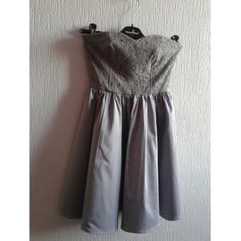 Robe De Soir�e H&m Polyester 34 Gris