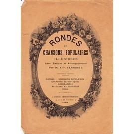 Rondes et chansons populaires illustrées avec musique et accompagnement