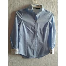Chemise Zara Basic Coton Xs Bleu Clair