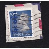 Timbre Hong Kong : Reine �lisabeth I I , $2,40