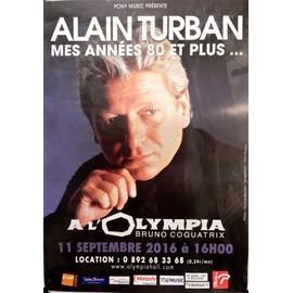 Alain Turban Affiche de concert a l'olympia 2016