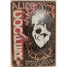 ALICE COOPER affiche de concert a san diego USA