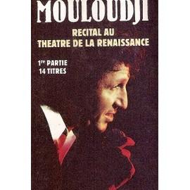 mouloudji k7 audio récital au théatre de la renaissance (1ere partie)
