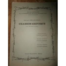 Chanson exotique pour clarinette et piano