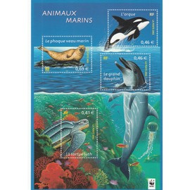 Timbres Animaux Marins WWF