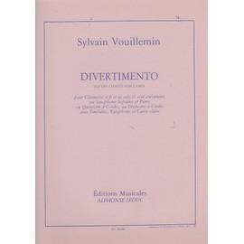 Divertimento sur des chants populaires / pour clarinette sib et la solo (1 seul exécutant) ou saxophone soprano et piano