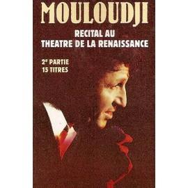 mouloudji k7 audio récital au théatre de la renaissance (2e partie)