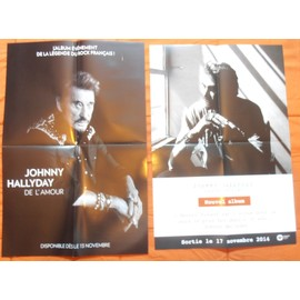 2 PLANS MEDIA BON DE PRéCO POSTER FORMAT 60X40 JOHNNY HALLYDAY