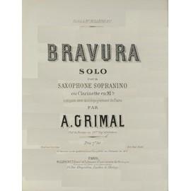 Bravura d'A. Grimal pour saxophone sopranino et piano