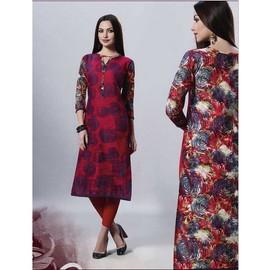 Tunique Indienne longue 100% Coton 38 Bleu marine Tenue Bollywood Vêtement femme Indien