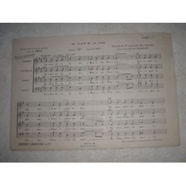 Au clair de la lune harmonisé à 4 voix mixtes par A. Béon