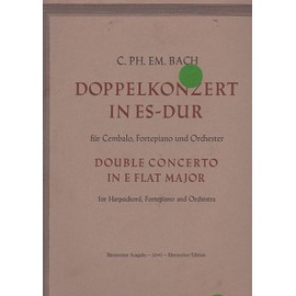Doppelkonzert in Es-Dur (Double concerto in E flat major) : für Cembalo, Fortepiano und Orchester - conducteur