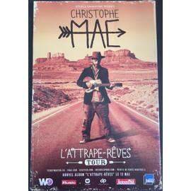 Christophe Maé - L'Attrape-Rêves Tour - 80x120 cm - AFFICHE / POSTER envoi en tube