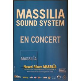 Massilia Sound System - En Concert - 40x60 cm - AFFICHE / POSTER envoi en tube