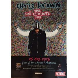Chris Brown - - 70x100 cm - AFFICHE / POSTER envoi en tube