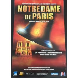 Notre Dame de Paris - Comédie Musicale - 40x60 cm - AFFICHE / POSTER envoi en tube