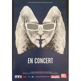 Michel POLNAREFF - En Concert 2016 / Bleu - 40x60 cm - AFFICHE / POSTER envoi en tube