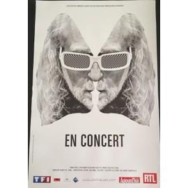 Michel POLNAREFF - En Concert 2016 / Blanc - 40x60 cm - AFFICHE / POSTER envoi en tube