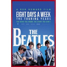 Poster encadré: The Beatles - Movie (91x61 cm), Cadre Plastique, Rouge